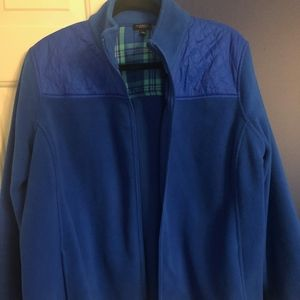Talbots Plus Size Quilted Fleece Jacket